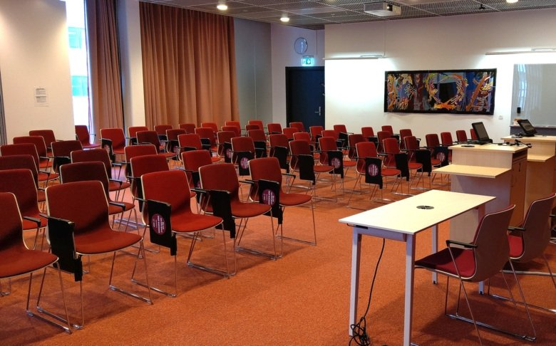 Lecture hall Gene with 50 seats in the NEO building at campus Flemingsberg