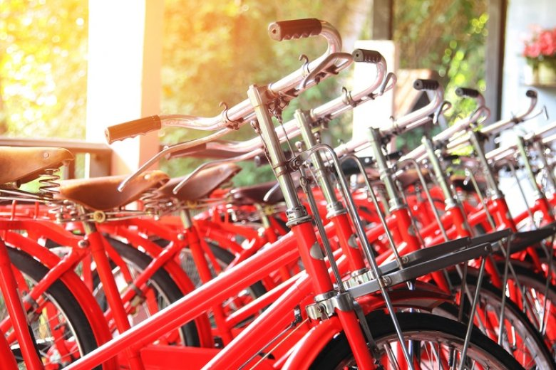red bicycles
